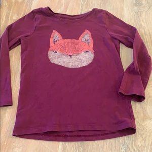 Tea Collection Fox Girls Shirt size 6